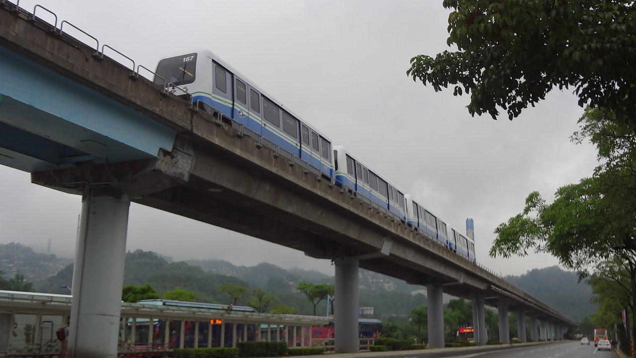 [Rain Video] TAIPEI MRT Line 1 台北捷運 文湖線 南港展覽館→動物園
