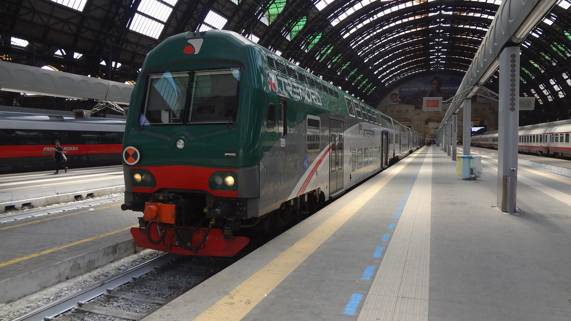 TRENORD Double Decker / Milano Centrale → Bergamo (Passenger's View)