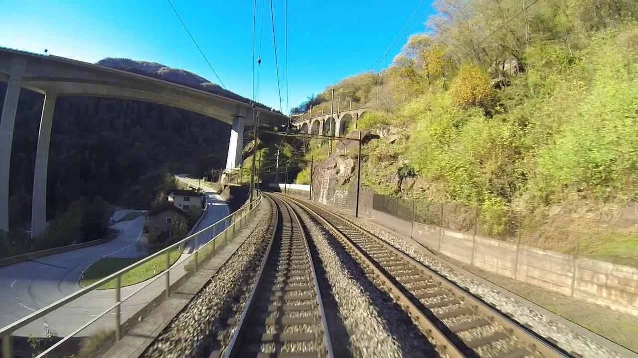 Gotthard: Führerstandsmitfahrt Bellinzona – Airolo