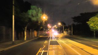 Melbourne Tram Driver View at night – Route 48 Part 1 North Balwyn to Richmond.