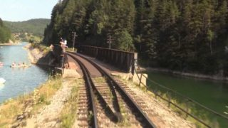 Mountain Railroad – Train Driver's View – Telgart, Central Europe, SK