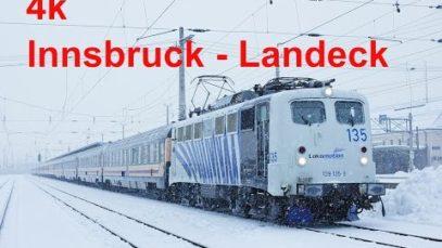 4k Cabride / Führerstandsmitfahrt Innsbruck – Ötztal – Imst-Pitztal – Landeck-Zams
