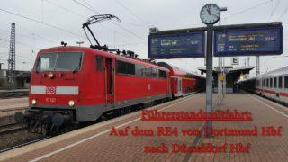 4K | Führerstandsmitfahrt auf dem RE4 ( 4/4 ) ( Dortmund – Düsseldorf )