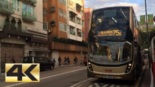 [4k] Hong Kong Bus KMB ATENU1064 @ 75X 九龍巴士 Dennis E50D 大埔中心-黄大仙
