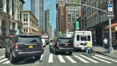 Driving Downtown – Manhattan New York City NY USA