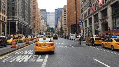 Driving Downtown – Park Avenue – New York City NY USA