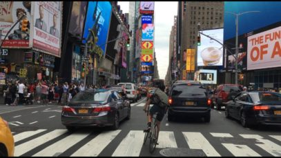Driving Downtown – Time Square – New York City NY USA