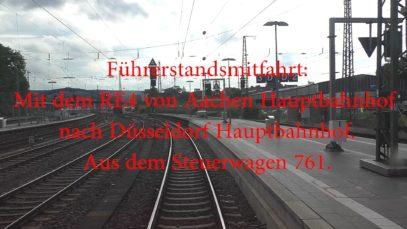Führerstandsmitfahrt auf dem RE4 ( 2/4 ) ( Aachen – Düsseldorf )
