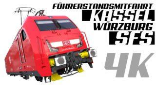 Führerstandsmitfahrt SFS Kassel – Würzburg / 4K / GoPro / Teil 1 HD