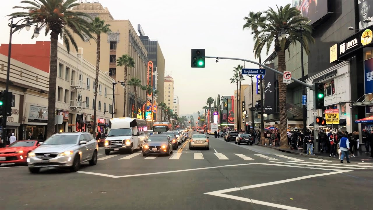 Driving Downtown – Hollywood – Los Angeles California USA