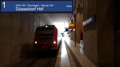 Führerstandsmitfahrt auf dem RE6a von Köln/Bonn Flughafen nach Düsseldorf Hbf