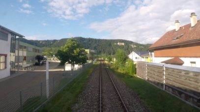 Führerstandsmitfahrt im Naturpark – Express von Tuttlingen nach Sigmaringen 2.7K
