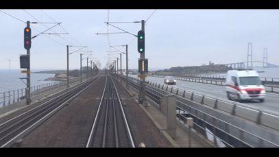 Führerstandsmitfahrt Dänemark : Fredericia – København H in LYN 46