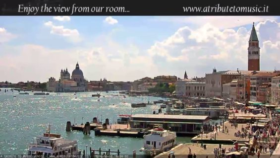 Venice Italy Live Cam – St. Mark's Basin in Live Streaming from Tribute to Music Venice