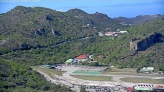 Webcam St-Barth – Avions au décollage – aéroport G