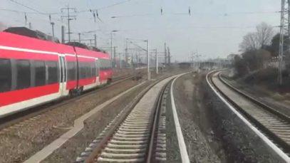 Führerstandsmitfahrt S-Bahn Berlin von Flughafen Willy Brand nach Schönefeld in 4K