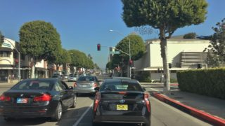 Driving Downtown – LA's Santa Monica Blvd – LA California USA 4K