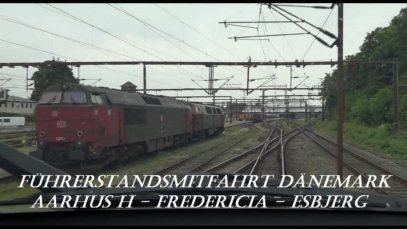 Führerstandsmitfahrt Dänemark: Aarhus H – Esbjerg mit RR3336