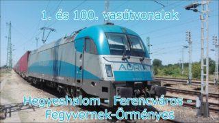 Hegyeshalom – Fegyvernek-Örményes vezetőállásból | 1. és 100. vonalak | Full HD
