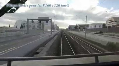 Train Cab ride Through France