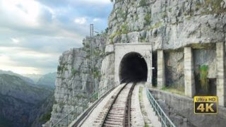 4K CABVIEW Bar – Bijelo Polje -102 tunnels -96 bridges -1029m altitude change from Sea to Mountains