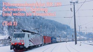 4k Führerstandsmitfahrt Tauernbahn im Winter. Teil III Schwarzach – Salzburg (- Traunstein)