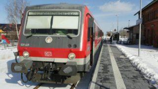 Eine winterliche Fahrt mit der Gäubodenbahn von Bogen nach Neufahrn in Niederbayern