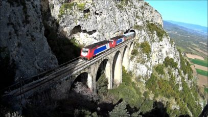 Rails Through Heaven – Part [1]: Lianokladi – Tithorea [ driver's eye view ]
