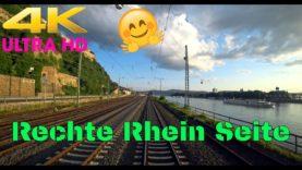 4K Führerstandsmitfahrt Rechte Rheinseite. Linz – Kestert HP