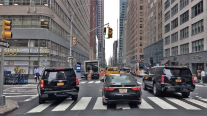 Driving Downtown – NYC's Ad Avenue 4K – New York City USA