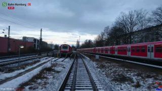 """Führerstandsmitfahrt BR472 S-Bahn Hamburg """"S21"""" Aumühle-Elbgaustrasse [Winter Jan 2017]"""