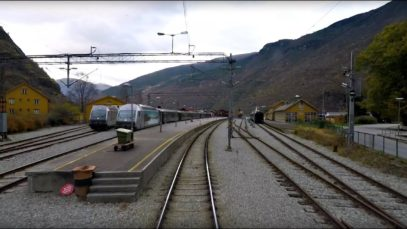 Train Driver's View: Myrdal – Flåm (Fall has come to the Flåm line)