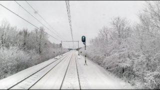 4K Cab Ride NL Groningen – Assen – Zwolle / Snow Ride / IC 742 / 11-12-2017