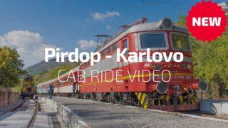 Cab Ride Bulgaria  Pirdop – Karlovo (BDZ Škoda 44 140 & train 3623) Sub-Balkan line