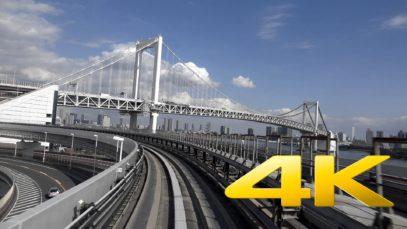 Daiba to Shimbashi – Yurikamome Line – Tokyo – 台場駅~新橋駅 – 4K Ultra HD