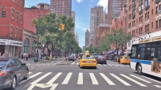 Driving Downtown 4K – NYC's Classic West Side – New York City USA