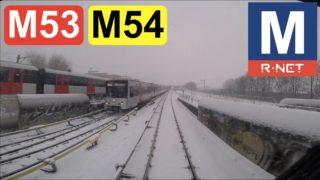GVB R-net Amsterdam Metrolijn 53 en 54 Cabinerit Gein – Centraal Station – Gaasperplas in de sneeuw