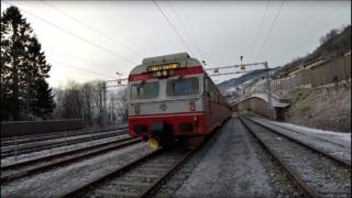 Train Driver's View: Working the local on a cold winter day