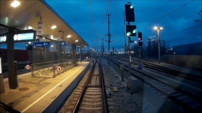 Wien Hauptbahnhof nach Wiener Neustadt über Ebenfurth Cab View