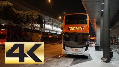 [4K] Hong Kong Bus LWB 1513 @ A47X 龍運巴士 Dennis Enviro 500 機場-大埔墟站