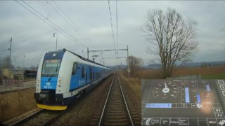 Cabview: Brno hl.n. – Březová n.S. (Panter) – trať + displej