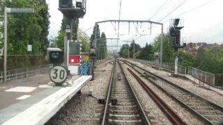 Ligne B du RER. Cabine d'un MI79 De Paris Nord à St Rémy les Chevreuses partie 2