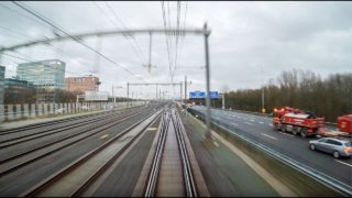 4K Cab Ride NL Leiden Centraal – Schiphol Airport – Almere Centrum / IC 1859 / 04-01-2018
