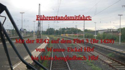 4K | Führerstandsmitfahrt auf der RE42 von Münster (Westf) Hbf nach Mönchengladbach Hbf [Teil 2]