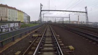 Praha-Holešovice – České Budějovice / POHLED NA TRAŤ Z ČELA SOUPRAVY/ HD KVALITA