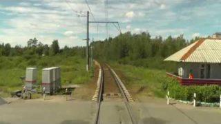 Train Driver's View: Nevskaya Dubrovka – Saint Petersburg Part 2 ( Cab ride view )