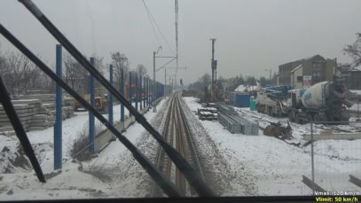 4K Cabview EN64-005 Katowice – Kraków + sound – 09.02.2018
