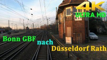 【4K】 Führerstandsmitfahrt Bonn GBF nach Düsseldorf Rath . Über Köln,Opladen ( BR 186 )