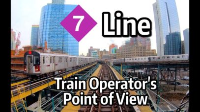 NYC Subway Train Operator's Point of View – The Manhattan-Bound 7 Express Line