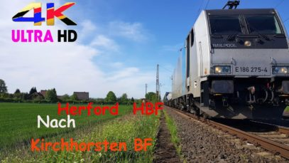 【4K】 Führerstandsmitfahrt Herford HBF nach Kirchhorsten BF